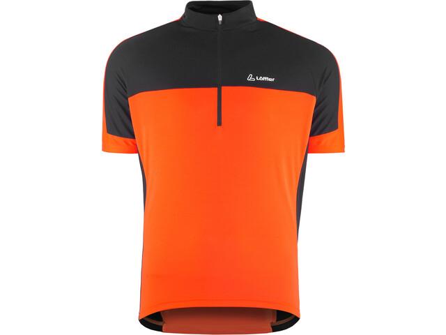 Löffler Pace Half-Zip Bike Shirt Men pumpkin